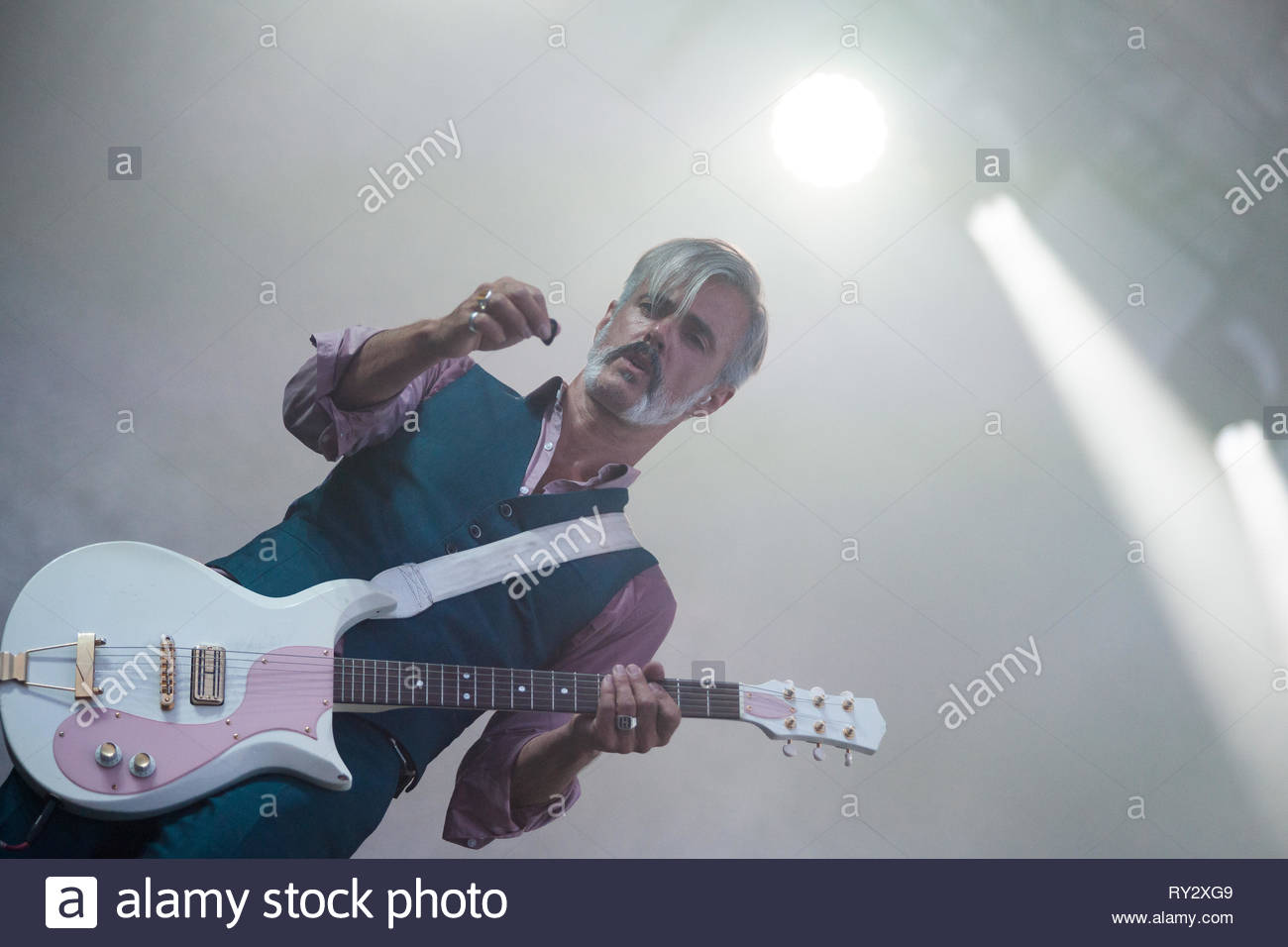 TRIGGERFINGER performing live, 13 july 2015 Stock Photo