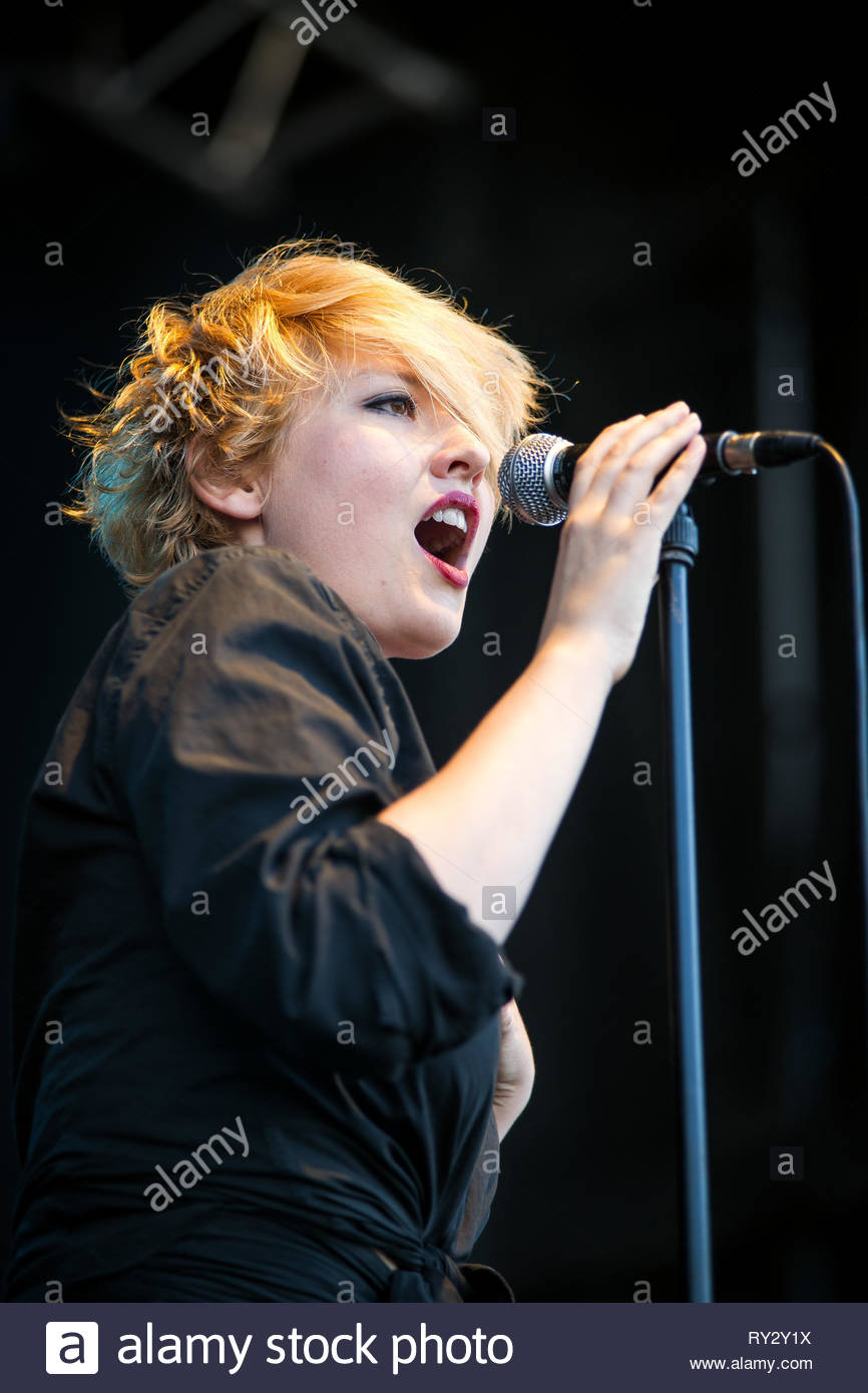 SR KREBS performing live at Musilac summer festival, 10 july 2015 Stock Photo