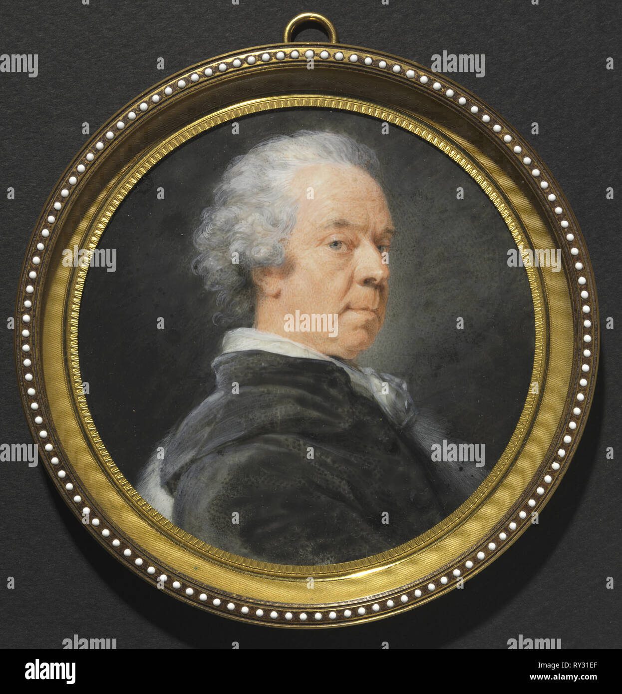 Portrait of Ivan Grigorevich, Count Chernyshev, c. 1785. Heinrich Friedrich Füger (German, 1751-1818). Watercolor on ivory in a later gilt metal and enamel frame; diameter: 10.6 cm (4 3/16 in.); diameter of frame: 13.1 cm (5 3/16 in Stock Photo