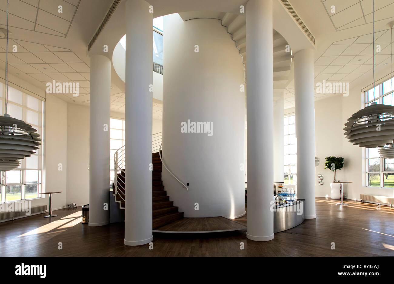 Moller Centre,Cambridge. Danish architect Henning Larsen. £10m given  to build it by the Moller Foundation, part of the Maersk shipping family. - Stock Image