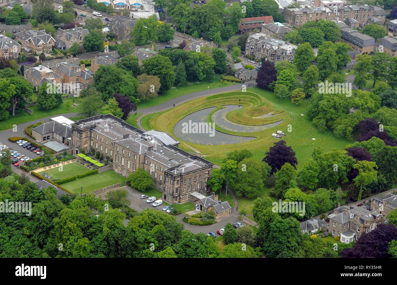 Aerial view of the Scottish Gallery of Modern Art, Belford Road, Edinburgh. Stock Photo