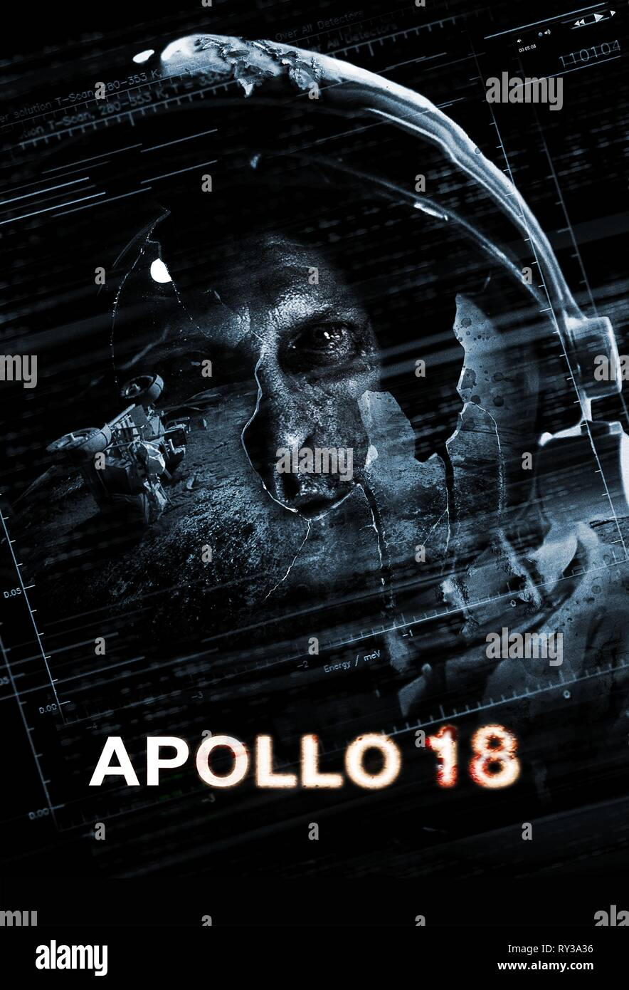 ASTRONAUT POSTER, APOLLO 18, 2011 - Stock Image