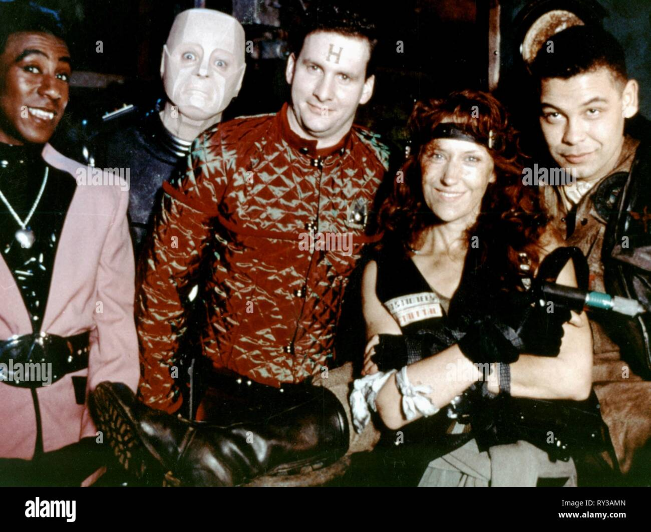 JULES,LLEWELLYN,BARRIE,DOBSON,CHARLES, RED DWARF, 1988 - Stock Image