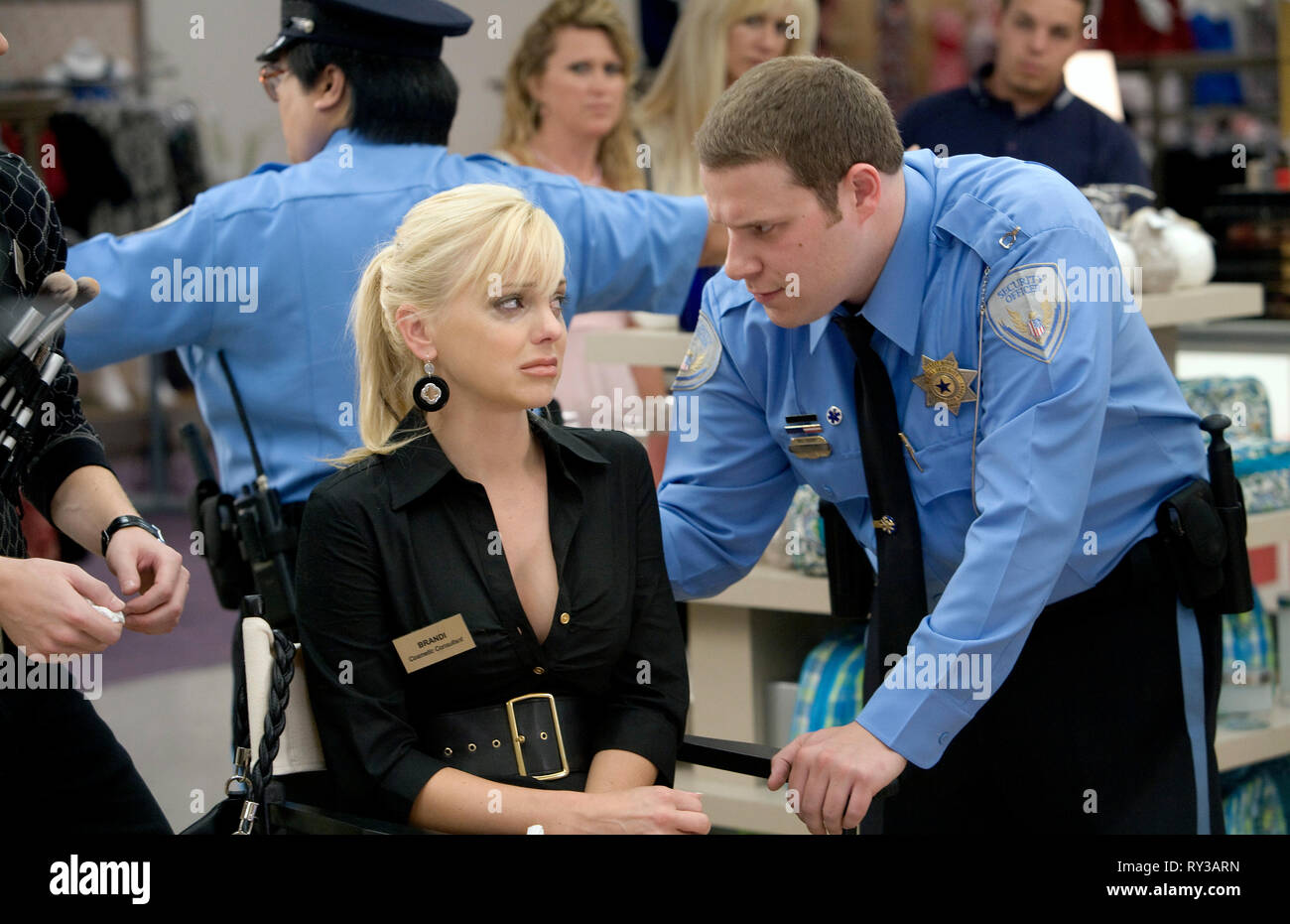 ANNA FARIS,SETH ROGEN, OBSERVE AND REPORT, 2009 - Stock Image