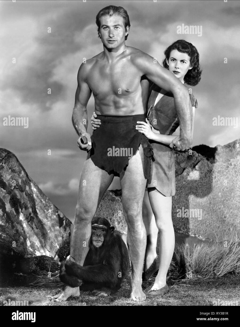 BARKER,BROWN, TARZAN AND THE SLAVE GIRL, 1950 - Stock Image