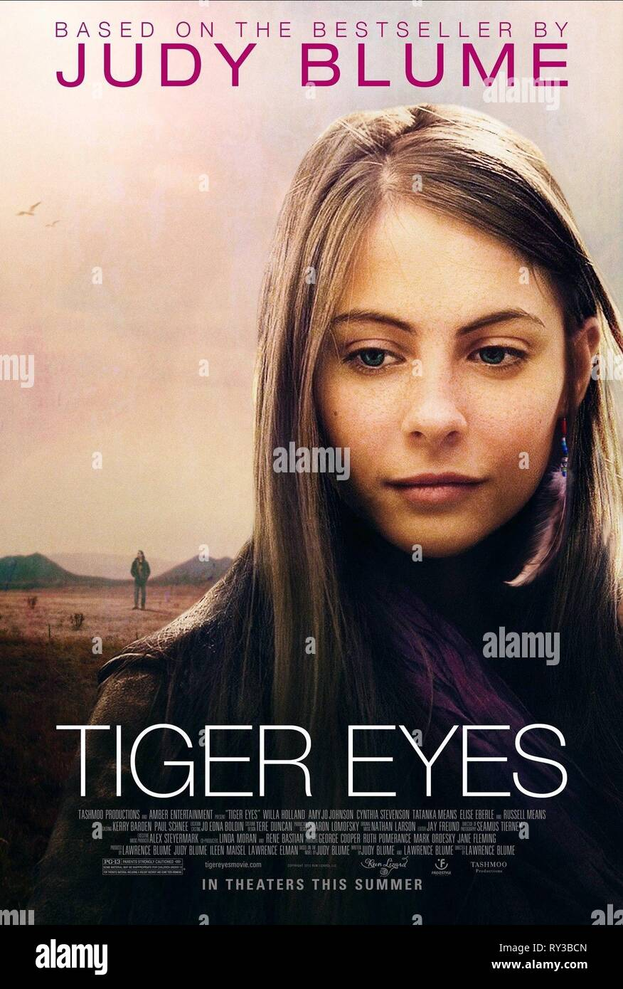 WILLA HOLLAND POSTER, TIGER EYES, 2012 - Stock Image