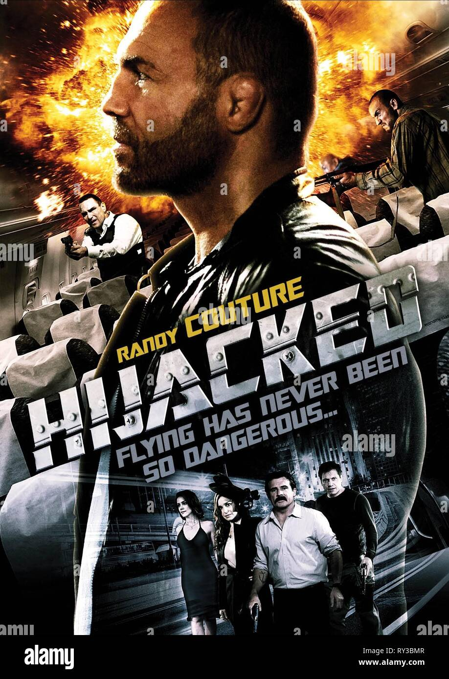 RANDY COUTURE POSTER, HIJACKED, 2012 - Stock Image