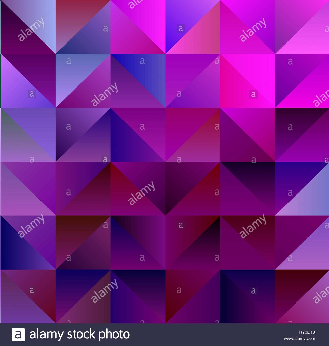 Geometric Magenta and Cyan Backdrop with Triangles - Stock Vector