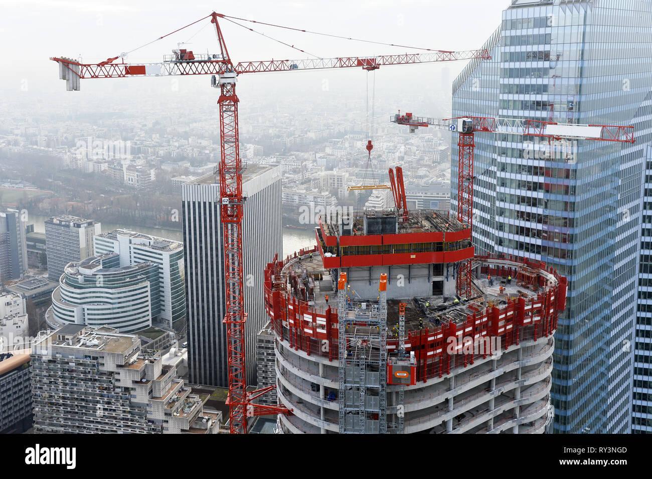 Alto Tower construction - La Défense - France - Stock Image