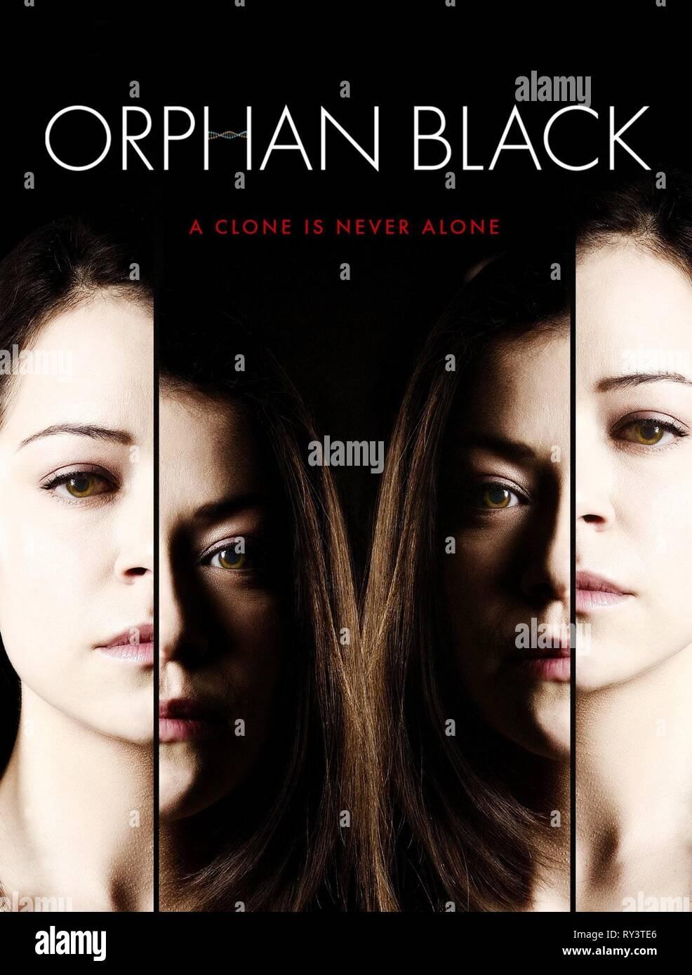 TATIANA MASLANY POSTER, ORPHAN BLACK, 2013 - Stock Image