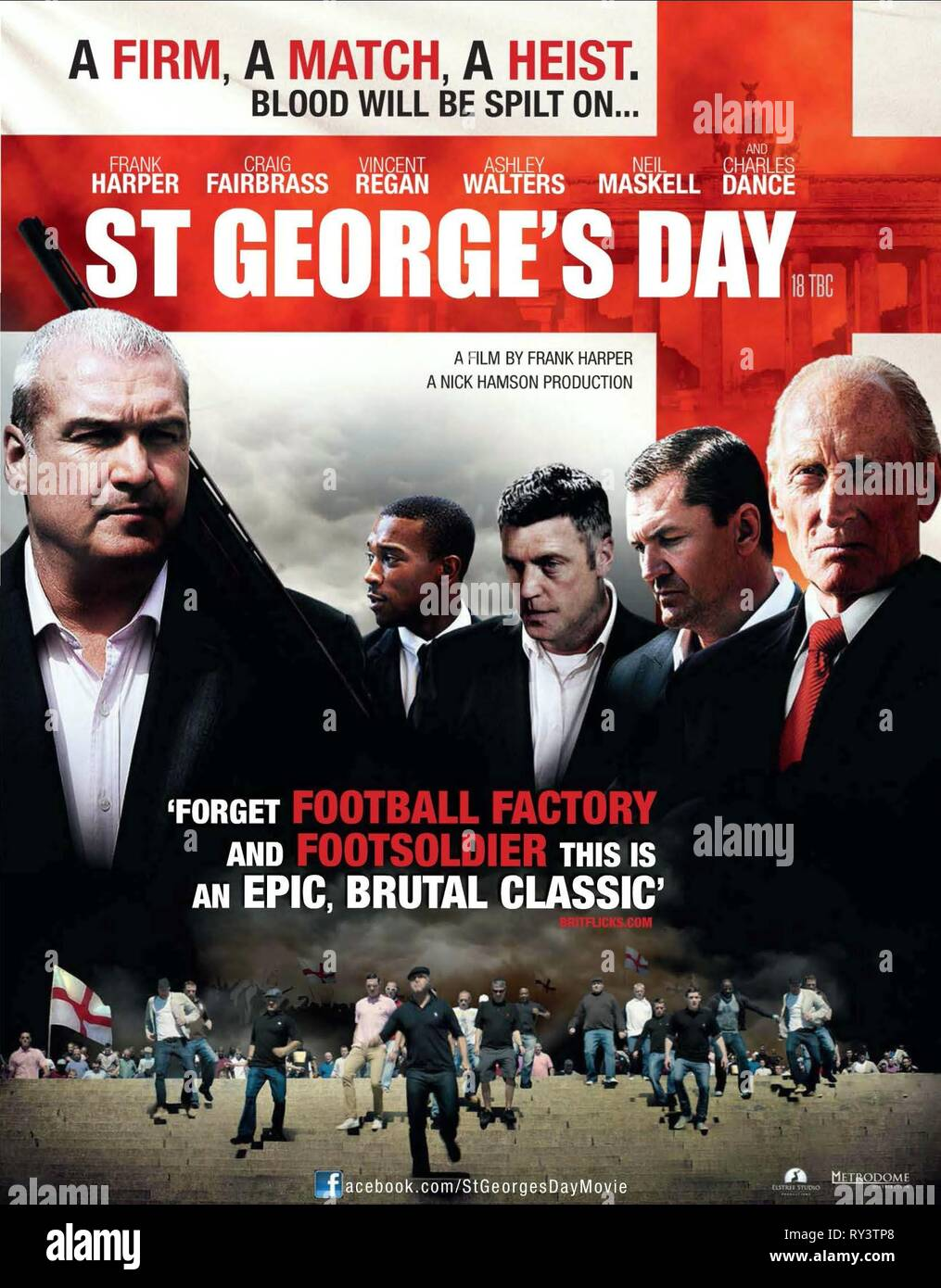 FRANK HARPER, ASHLEY WALTERS, VINCENT REGAN, CRAIG FAIRBRASS,CHARLES DANCE POSTER, ST GEORGE'S DAY, 2012 - Stock Image