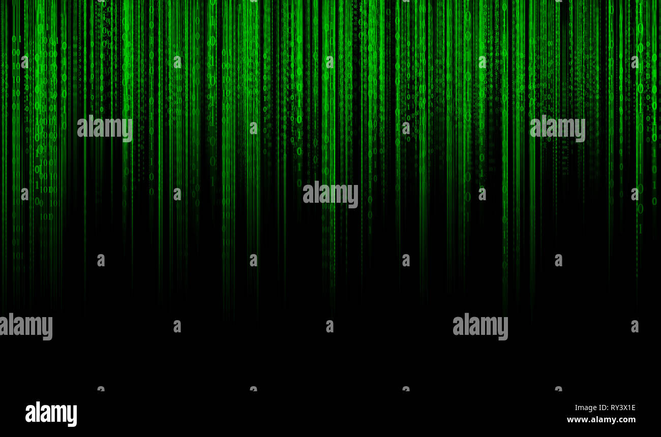 Digital data binary code technology matrix background, data flood conectivity futuristic binary code programming in cyber space, data technology conce - Stock Image