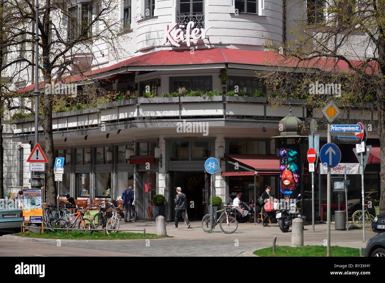 Stammhaus, Feinkost Kaefer, Prinzregentenstrasse, Muenchen, Bayern, Deutschland, Feinkost Käfer - Stock Image