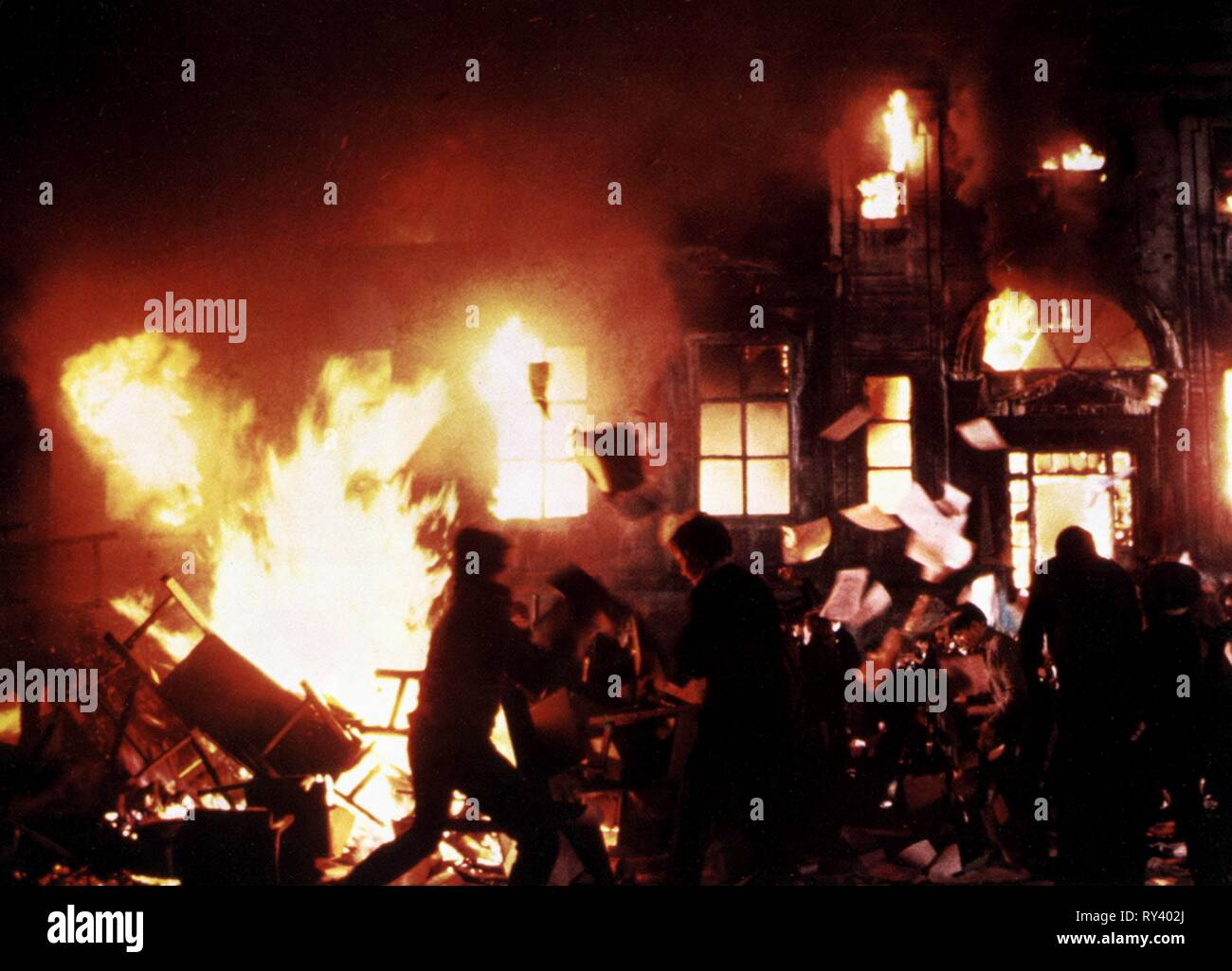 FIRE SCENE, PINK FLOYD THE WALL, 1982 - Stock Image