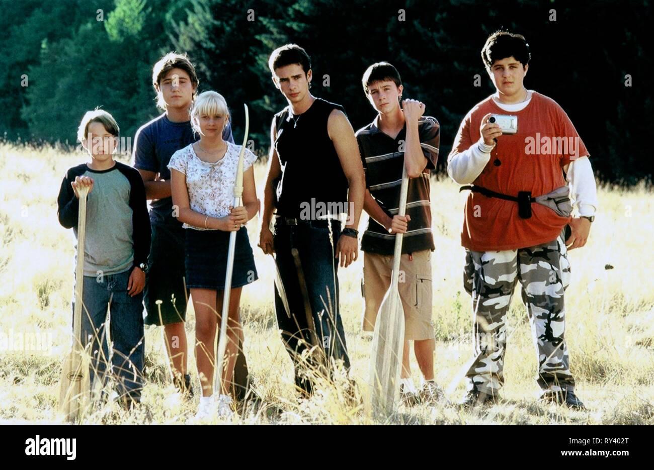 RORY CULKIN, TREVOR MORGAN, CARLY SCHROEDER, SCOTT MECHLOWICZ, RYAN KELLEY,JOSH PECK, MEAN CREEK, 2004 - Stock Image