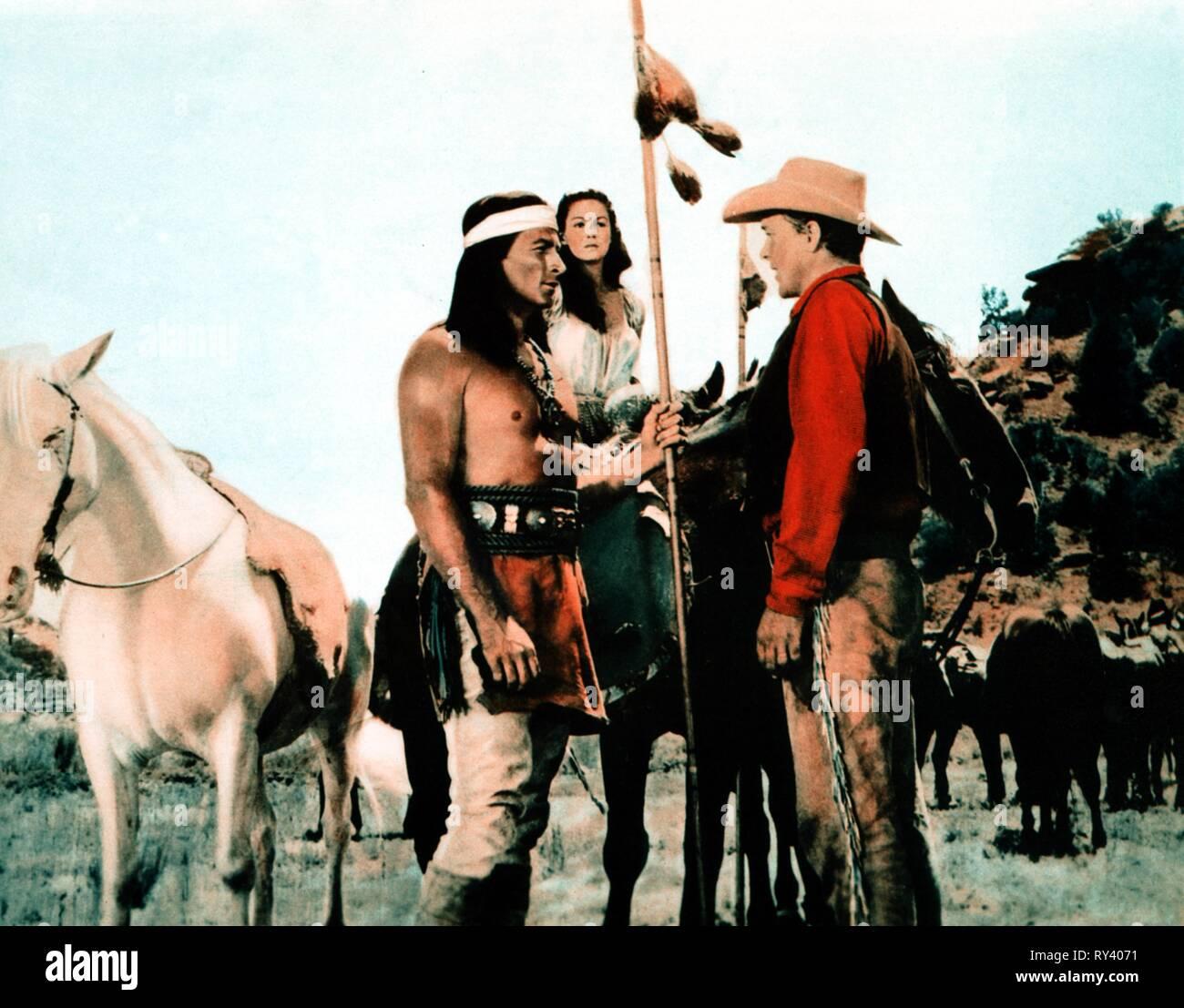 BARKER,TAYLOR,JOHNSON, WAR DRUMS, 1957 - Stock Image