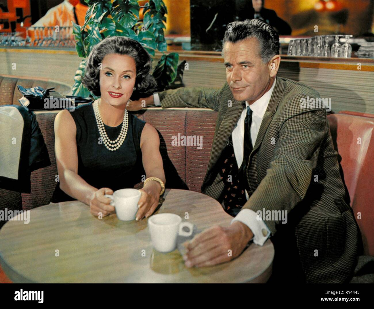 DINA MERRILL,GLENN FORD, THE COURTSHIP OF EDDIE'S FATHER, 1963 - Stock Image