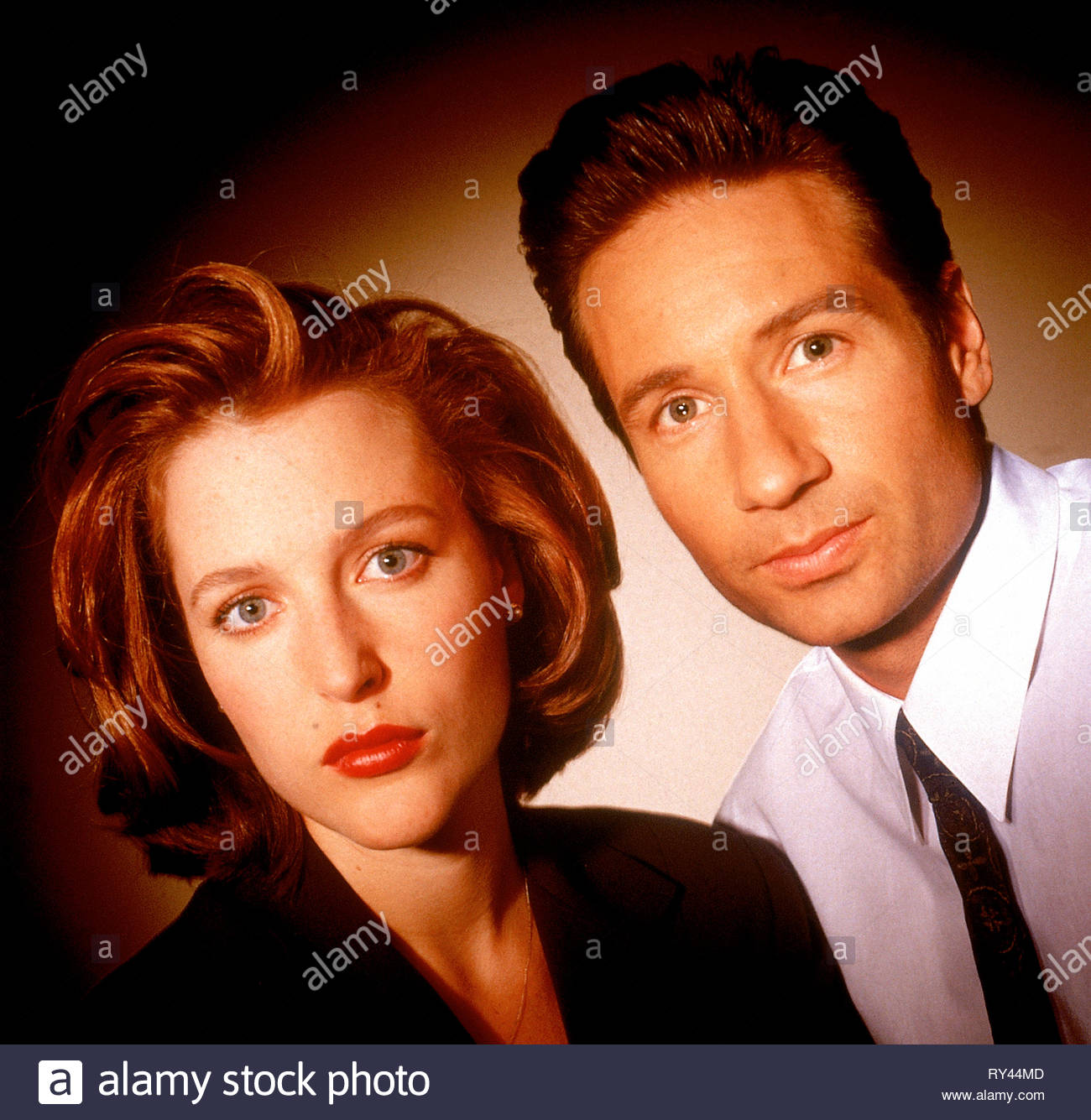 ANDERSON,DUCHOVNY, THE X FILES, 1993 - Stock Image