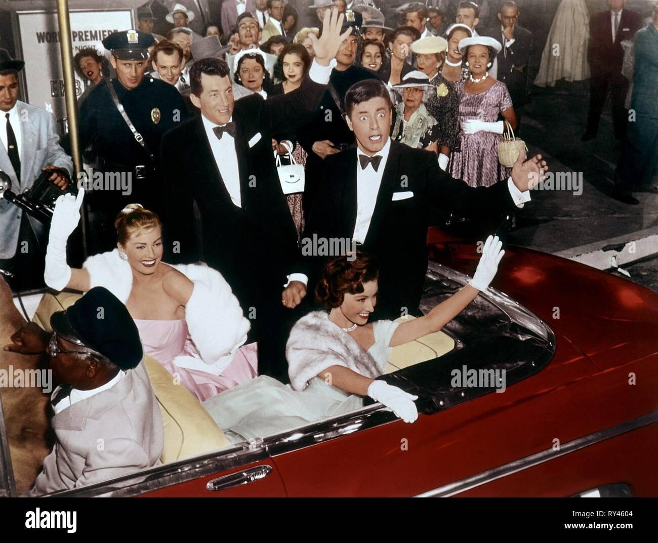 EKBERG,MARTIN,CROWLEY,LEWIS, HOLLYWOOD OR BUST, 1956 - Stock Image