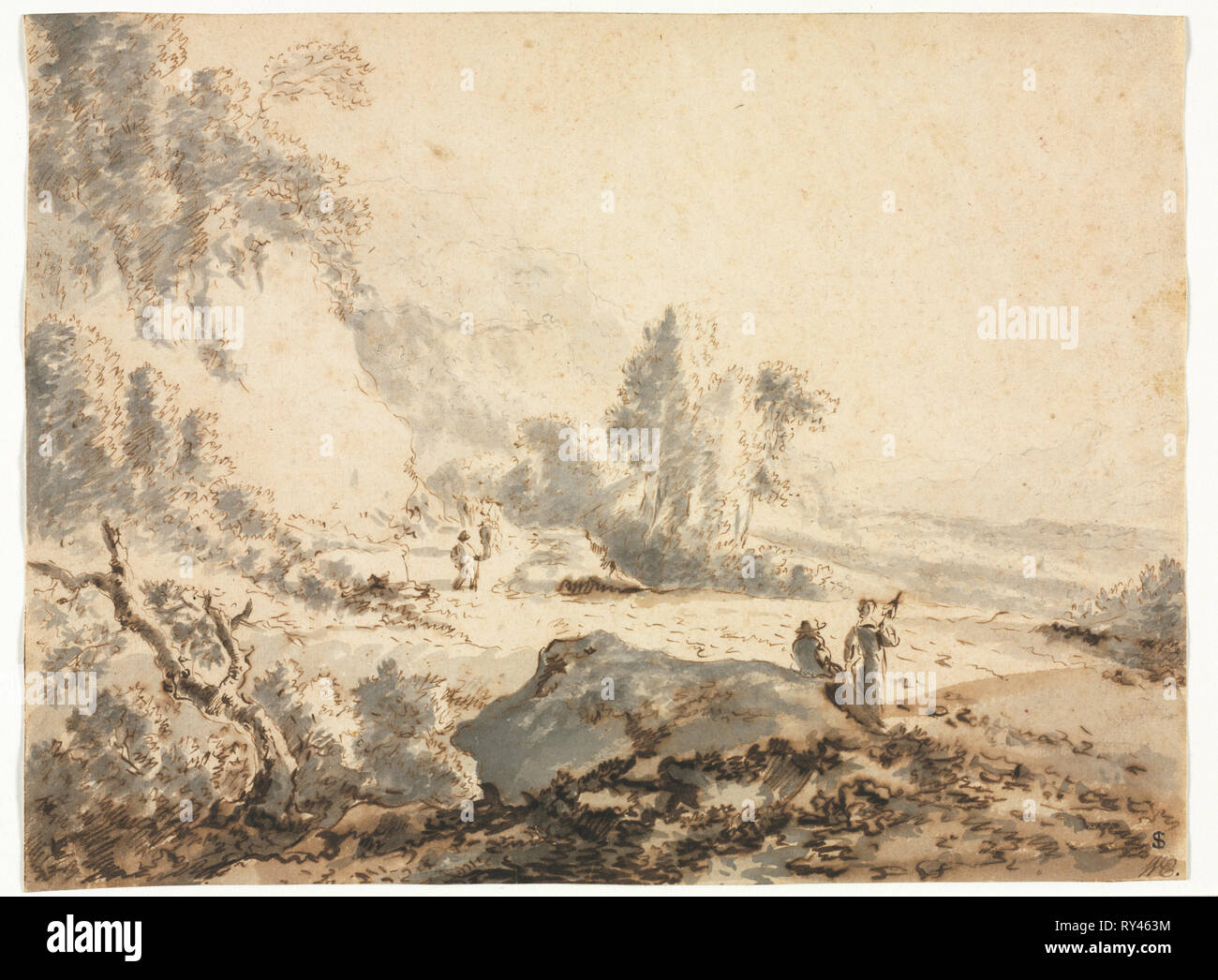 Landscape, 18th century  Anonymous, copy after Jan Hackaert