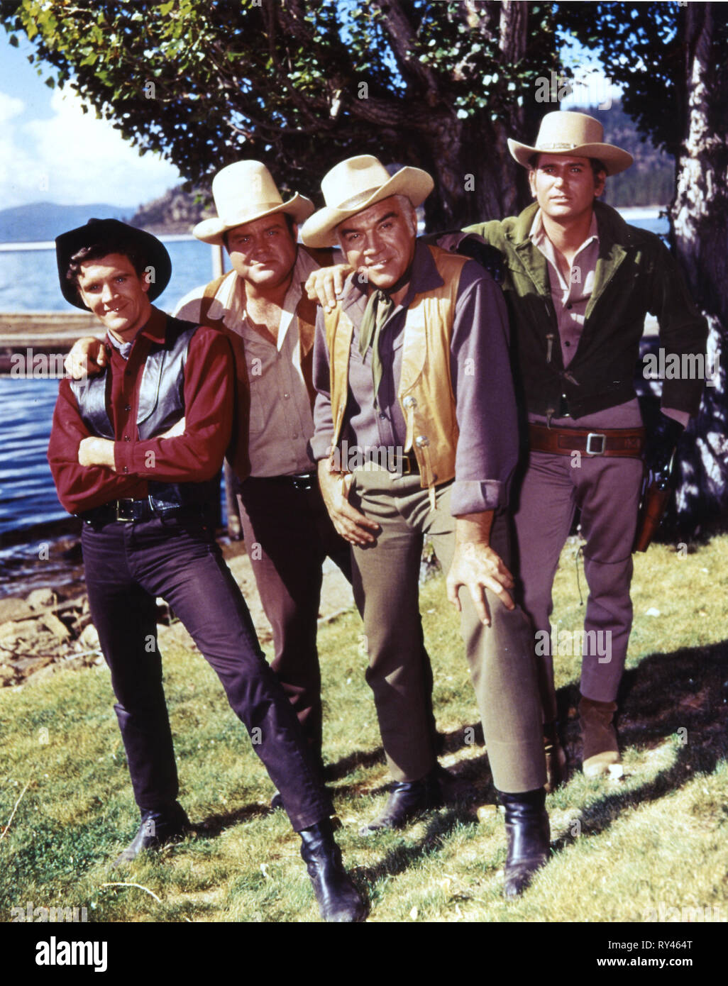 VOGEL,BLOCKER,GREENE,LANDON, BONANZA, 1959 - Stock Image