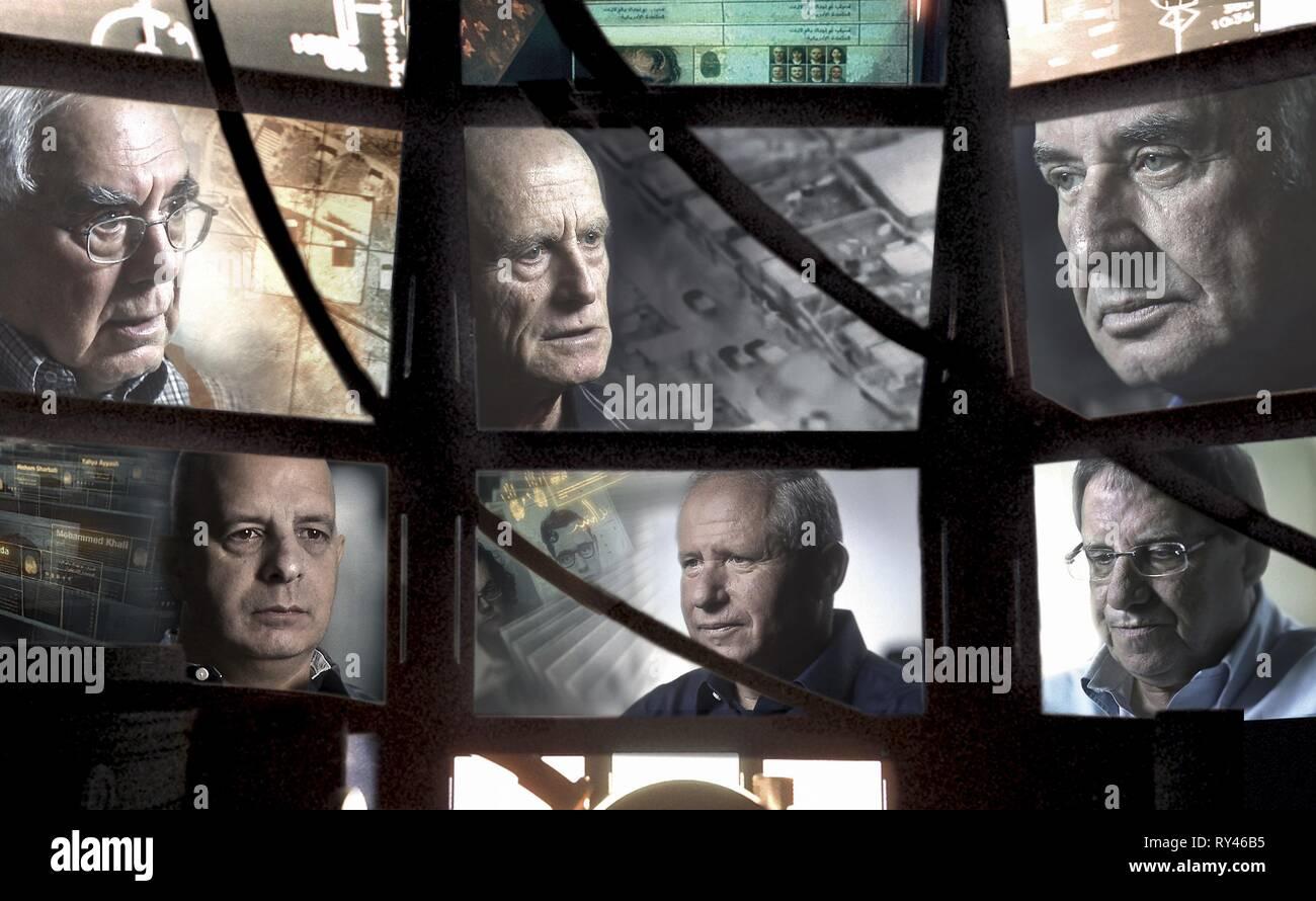 SHALOM,AYALON,PERI,DISKIN,DICHTER,GILLON, THE GATEKEEPERS, 2012 - Stock Image