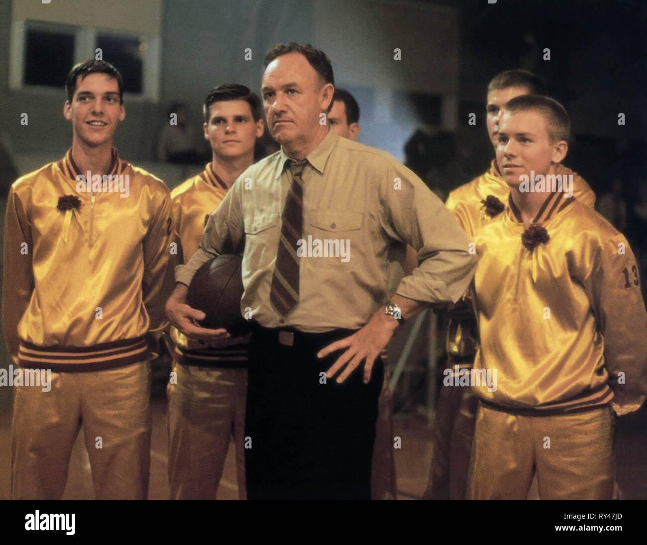 SCENE WITH GENE HACKMAN, HOOSIERS, 1986 - Stock Image