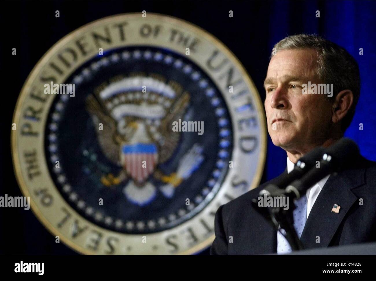 GEORGE W. BUSH, NO END IN SIGHT, 2007 - Stock Image