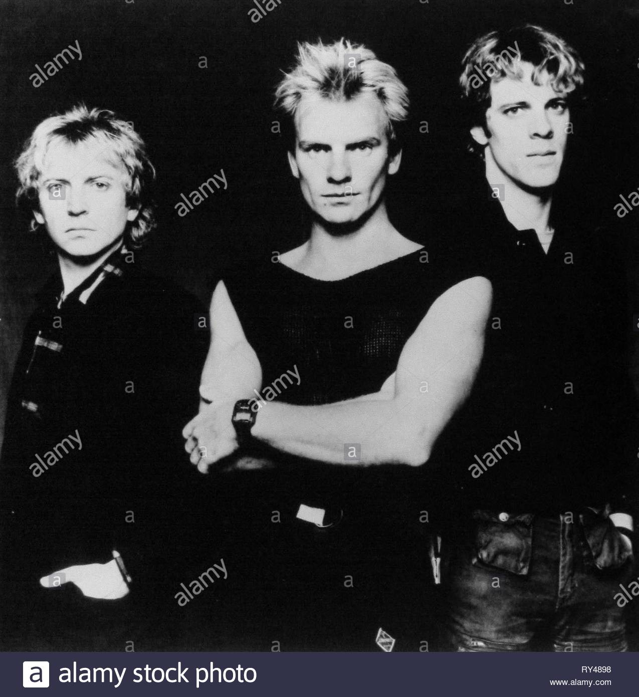 SUMMERS,STING,COPELAND, THE POLICE, 1980 - Stock Image