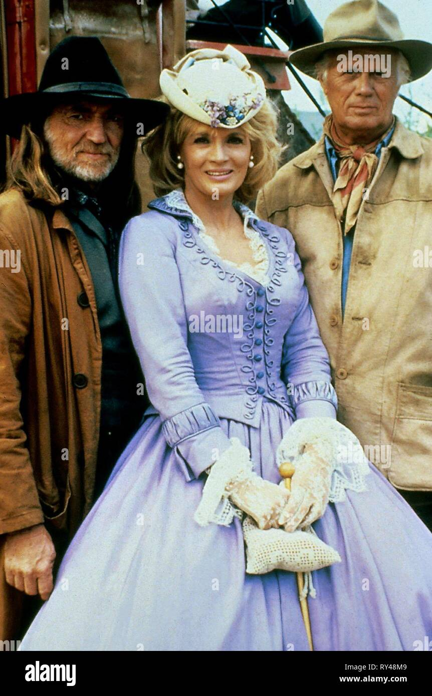 NELSON,DICKINSON,WIDMARK, ONCE UPON A TEXAS TRAIN, 1988 - Stock Image
