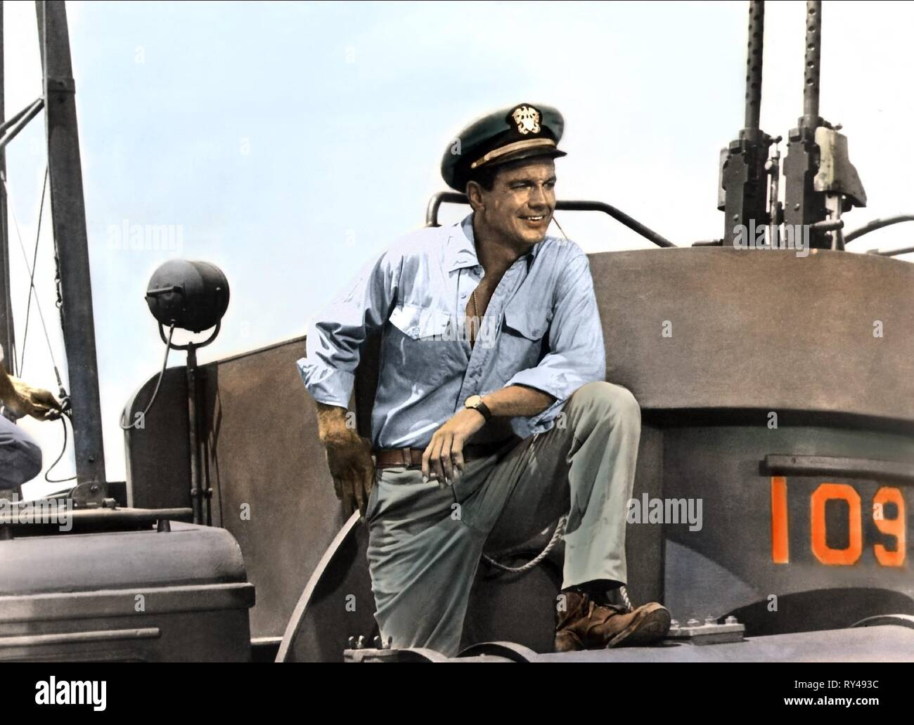 CLIFF ROBERTSON, PT 109, 1963 - Stock Image