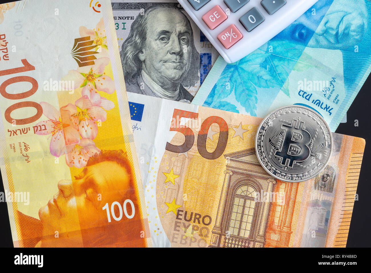 Foreign Currency (Forex) - Investment or Speculation - Stock Image