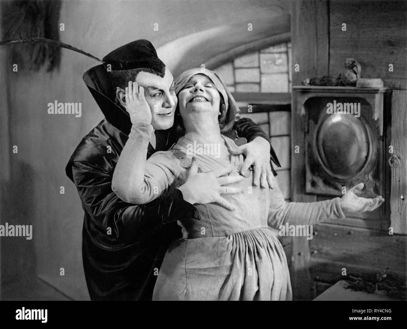 JANNINGS,GUILBERT, FAUST: A GERMAN FOLK LEGEND, 1926 - Stock Image
