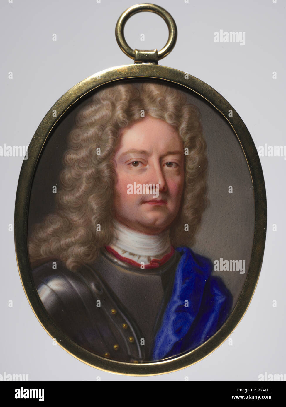 Portrait of John Churchill, 1st Duke of Marlborough, 1715. Christian Friedrich Zincke (German, 1683/85-1767). Enamel on copper in a gilt metal frame; framed: 6.4 x 5.1 cm (2 1/2 x 2 in.); sight: 5.9 x 4.8 cm (2 5/16 x 1 7/8 in - Stock Image