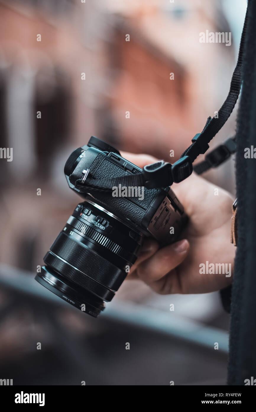Photo of a Fujifilm Camera - Stock Image