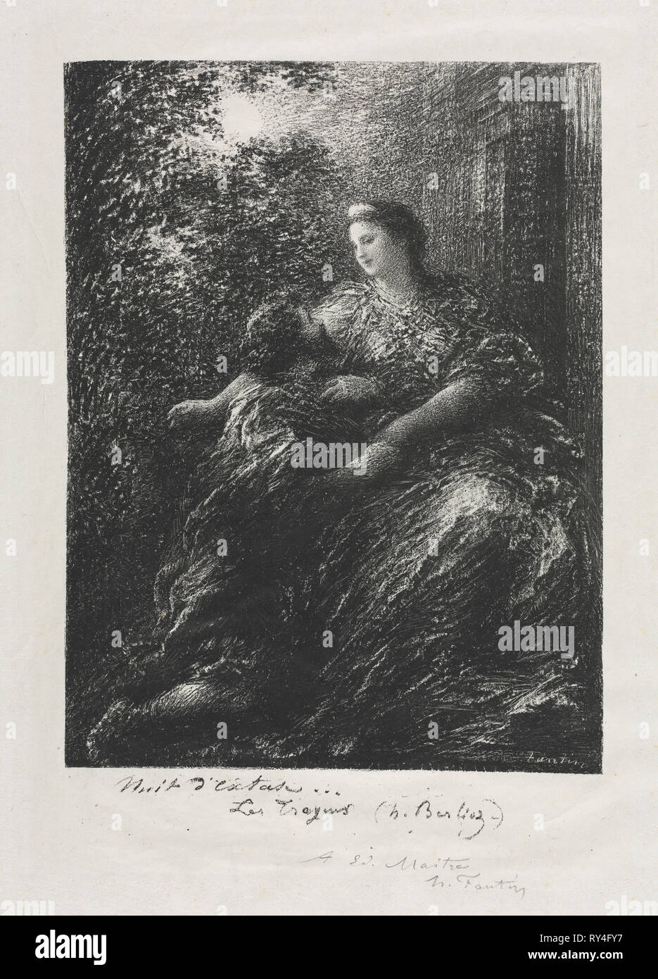 Duet of the Trojans, 1894. Henri Fantin-Latour (French, 1836-1904). Lithograph - Stock Image