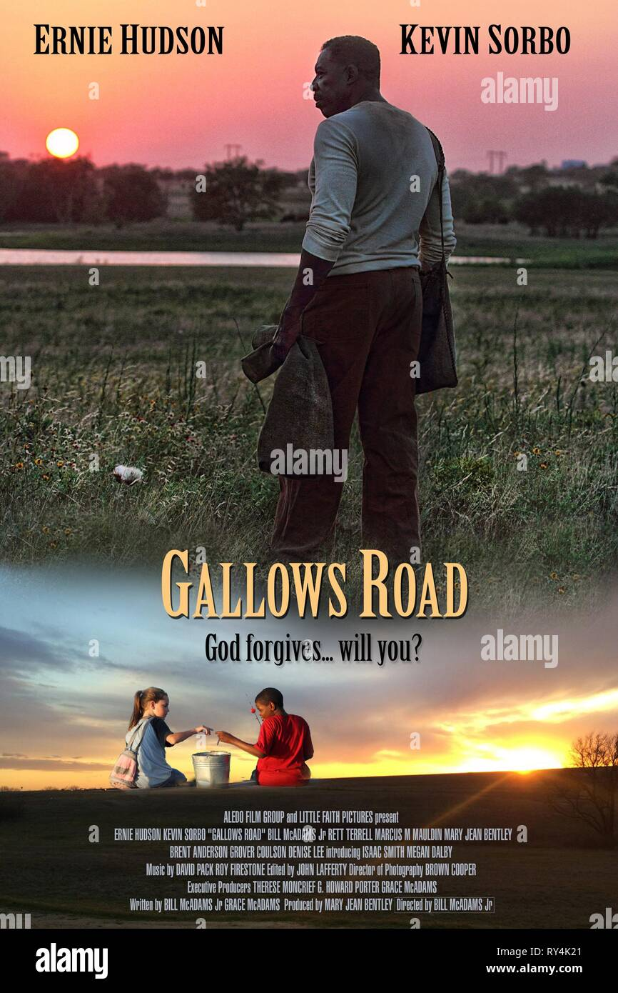 ERNIE HUDSON POSTER, GALLOWS ROAD, 2015 - Stock Image