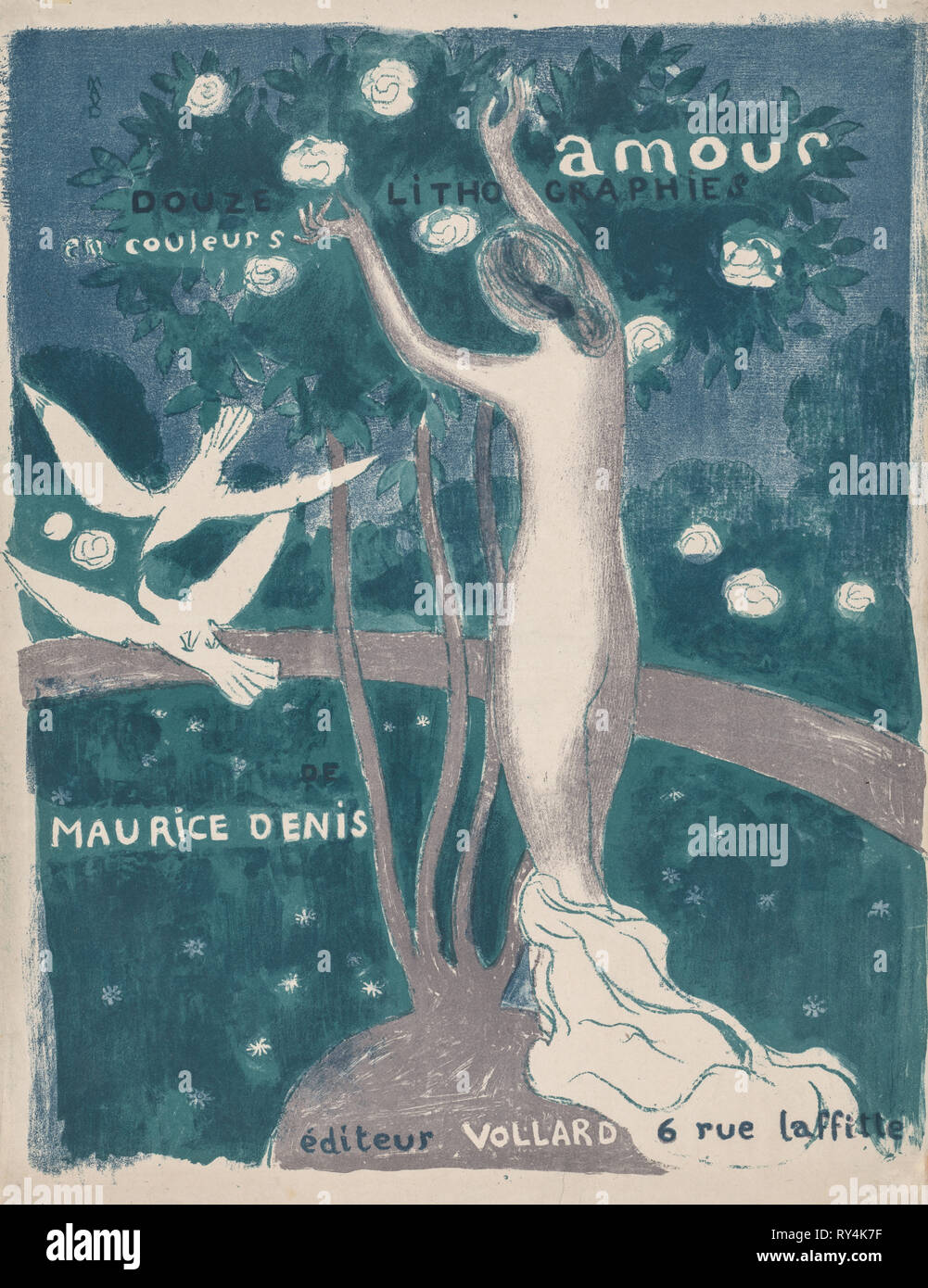 Love: Cover (Amour:  Couverture), 1895 (published 1911). Maurice Denis (French, 1870-1943), Ambroise Vollard (French, 1867-1939). Color lithograph - Stock Image