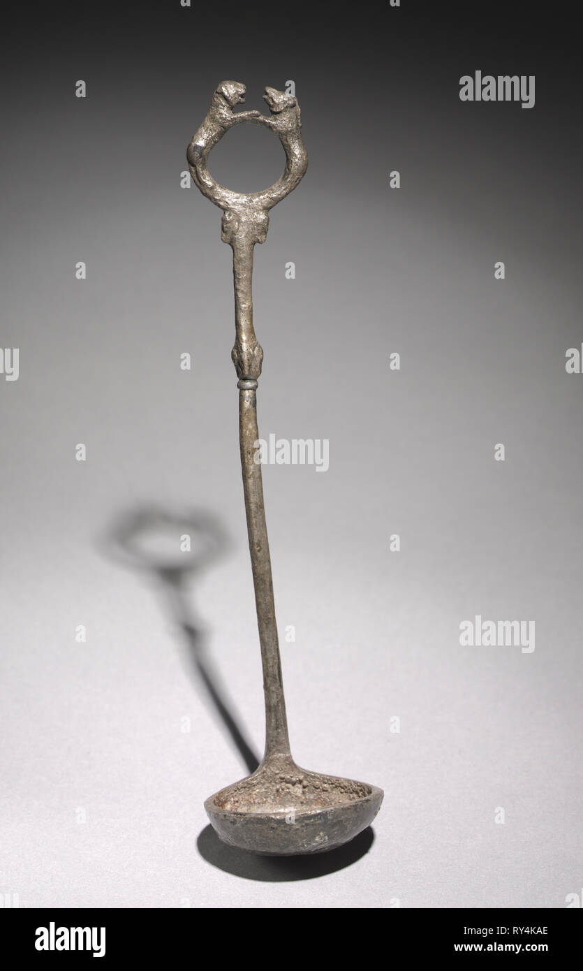 Ladle, c. 525-450. Syria(?), Achaemenian, late 6th - 5th Century BC. Silver; overall: 4.8 cm (1 7/8 in - Stock Image