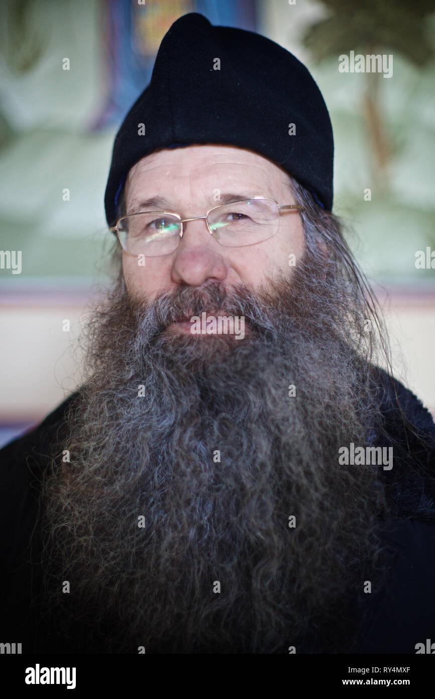 Russian orthodox priest, Tobolsk, Siberia, Russia - Stock Image