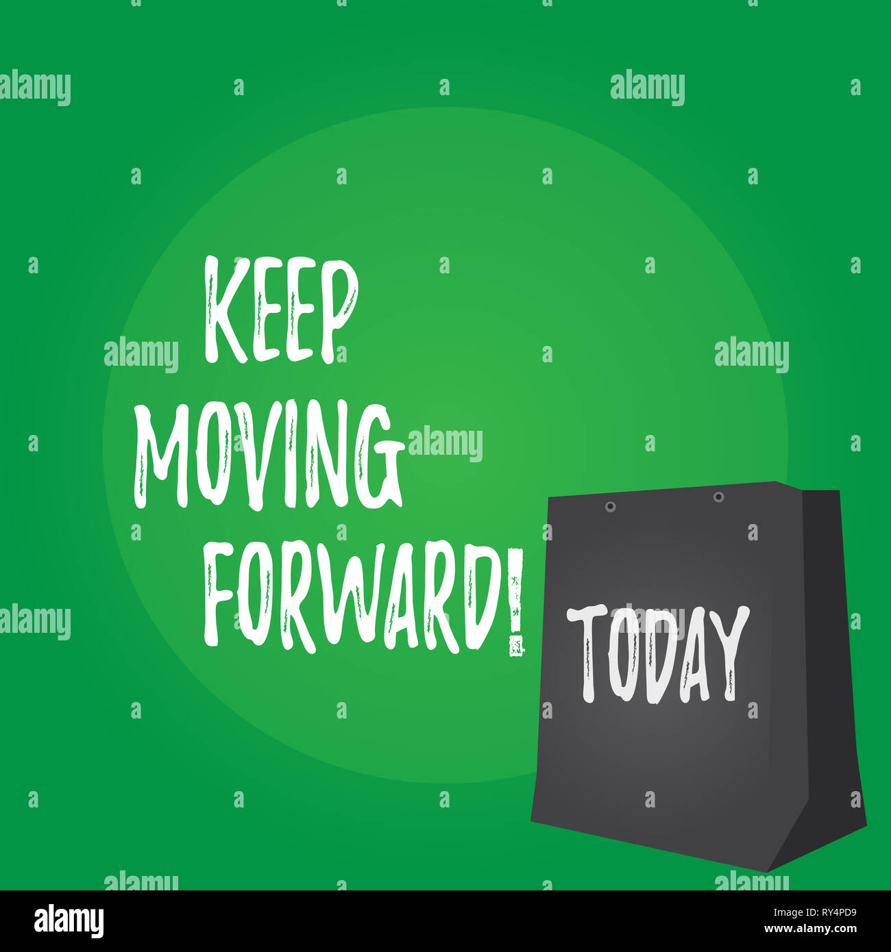 Handwriting text Keep Moving Forward. Conceptual photo improvement Career encouraging Go ahead be better - Stock Image