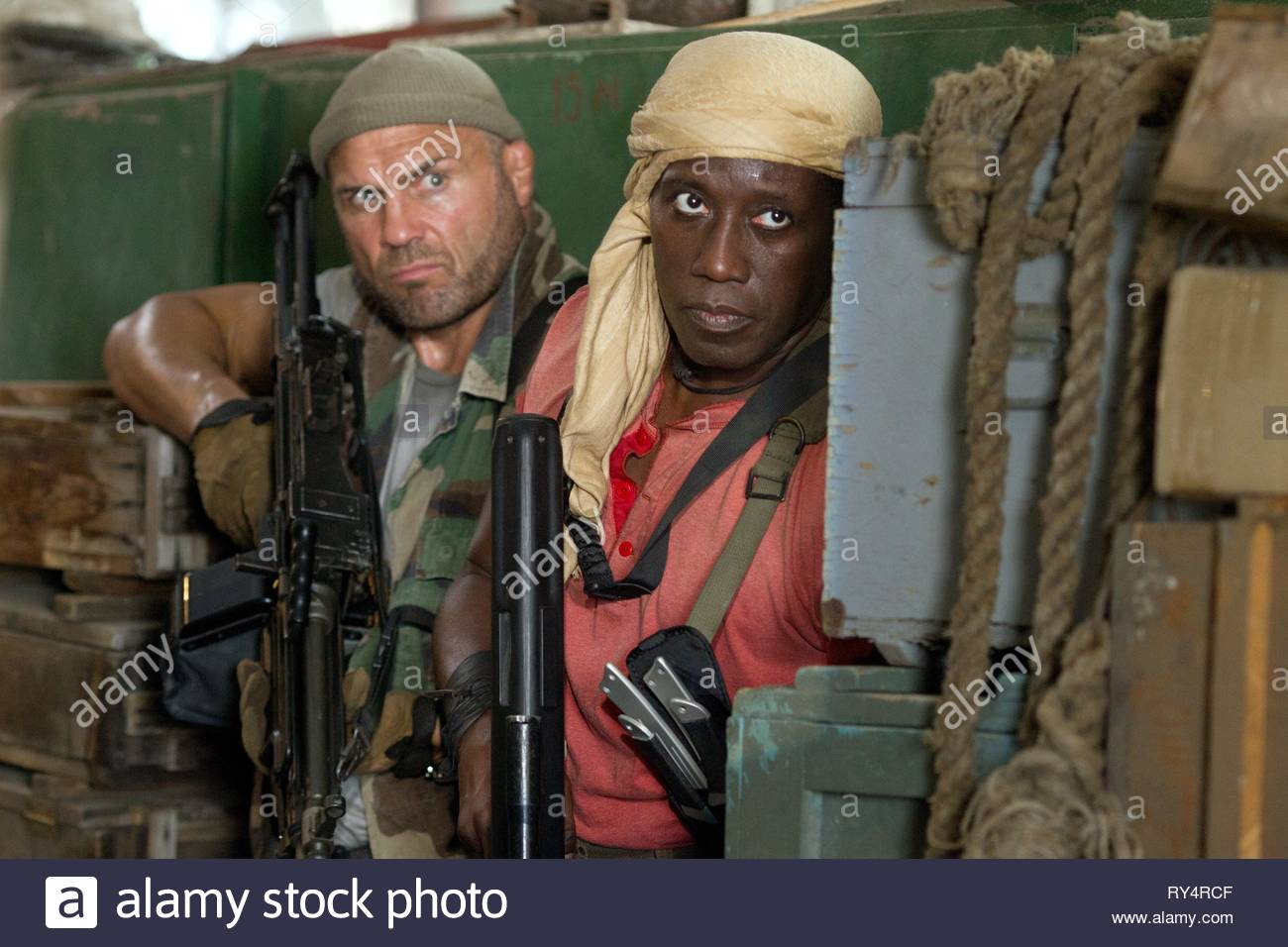 COUTURE,SNIPES, THE EXPENDABLES 3, 2014 - Stock Image