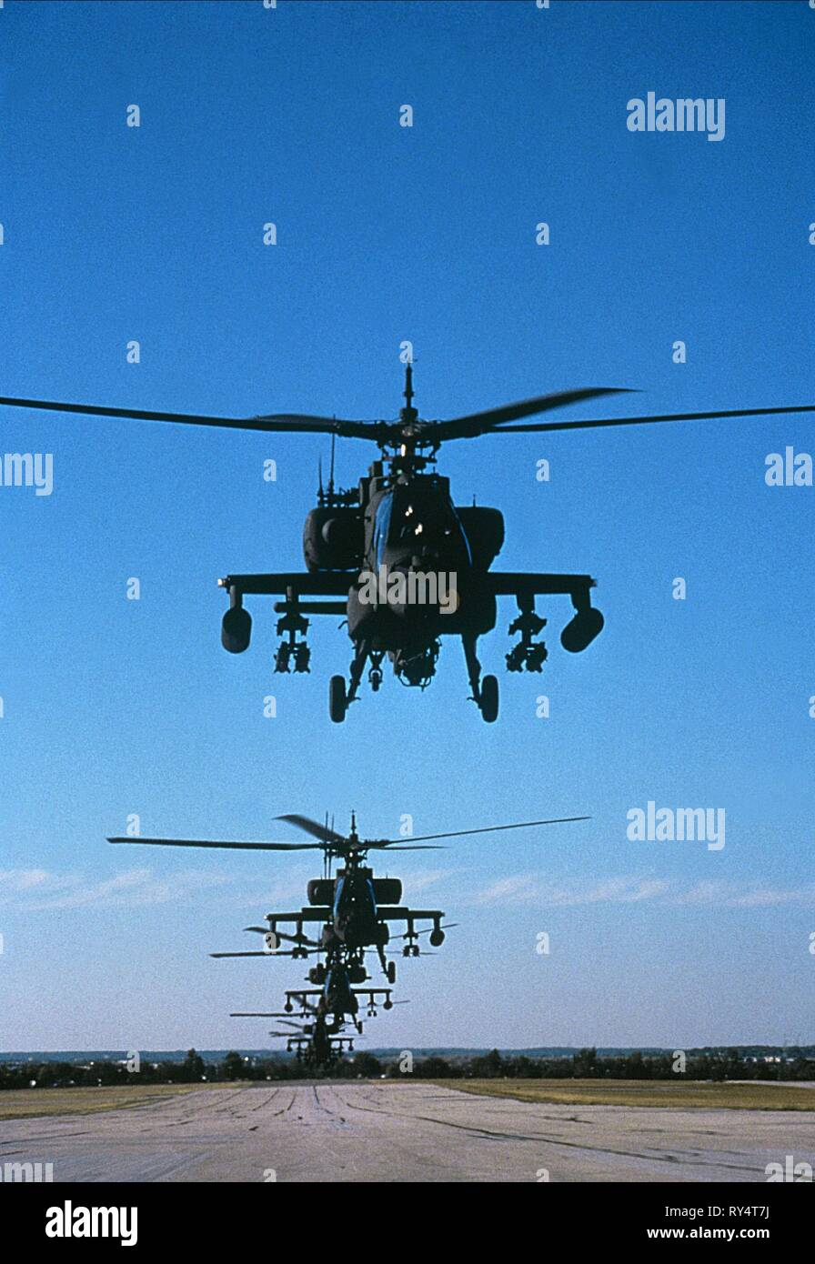 APACHE HELICOPTERS, FIRE BIRDS, 1990 - Stock Image