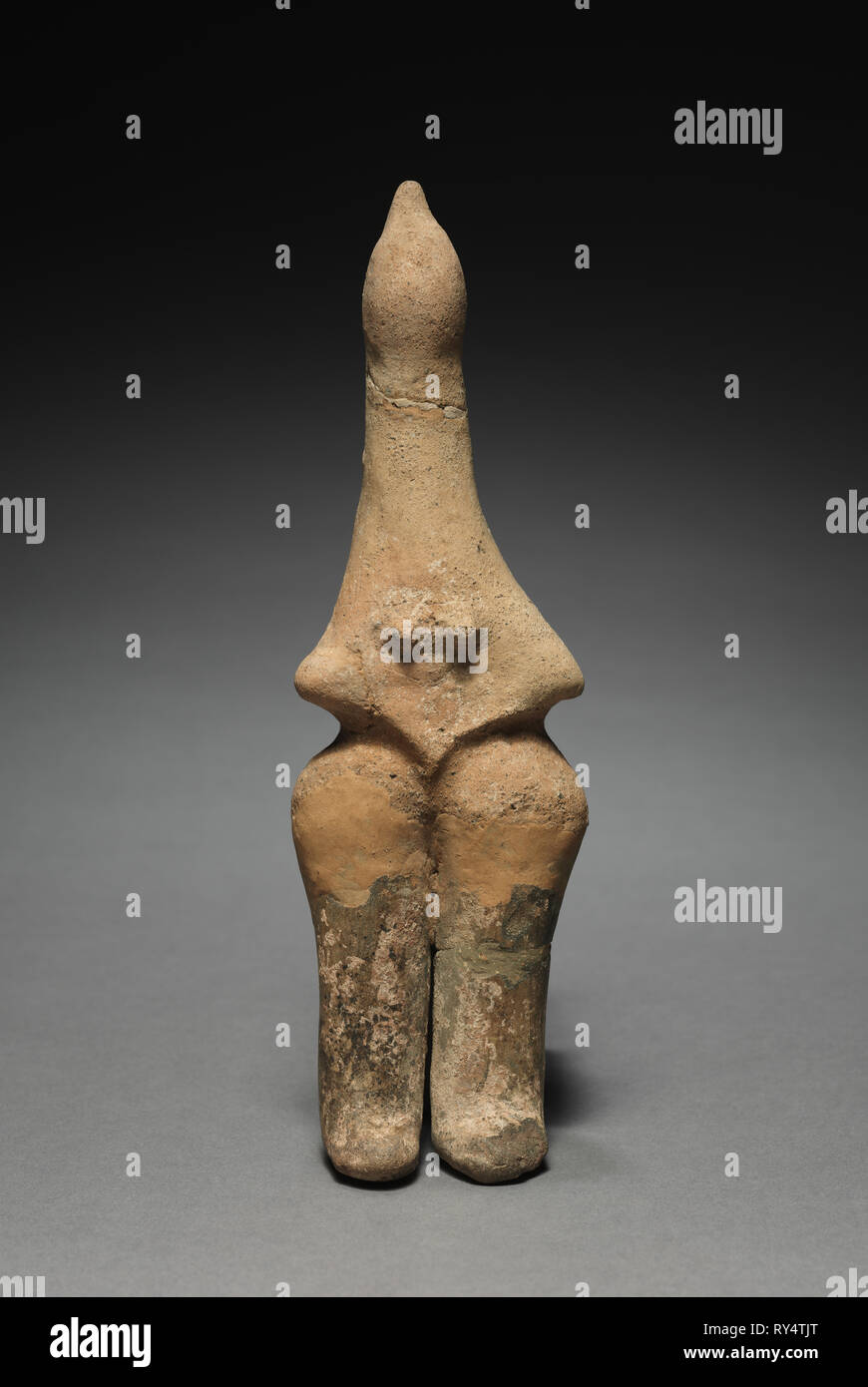 Figurine, 800s BC. Iran, Amlash, 9th Century BC. Terracotta; overall: 23.2 cm (9 1/8 in - Stock Image