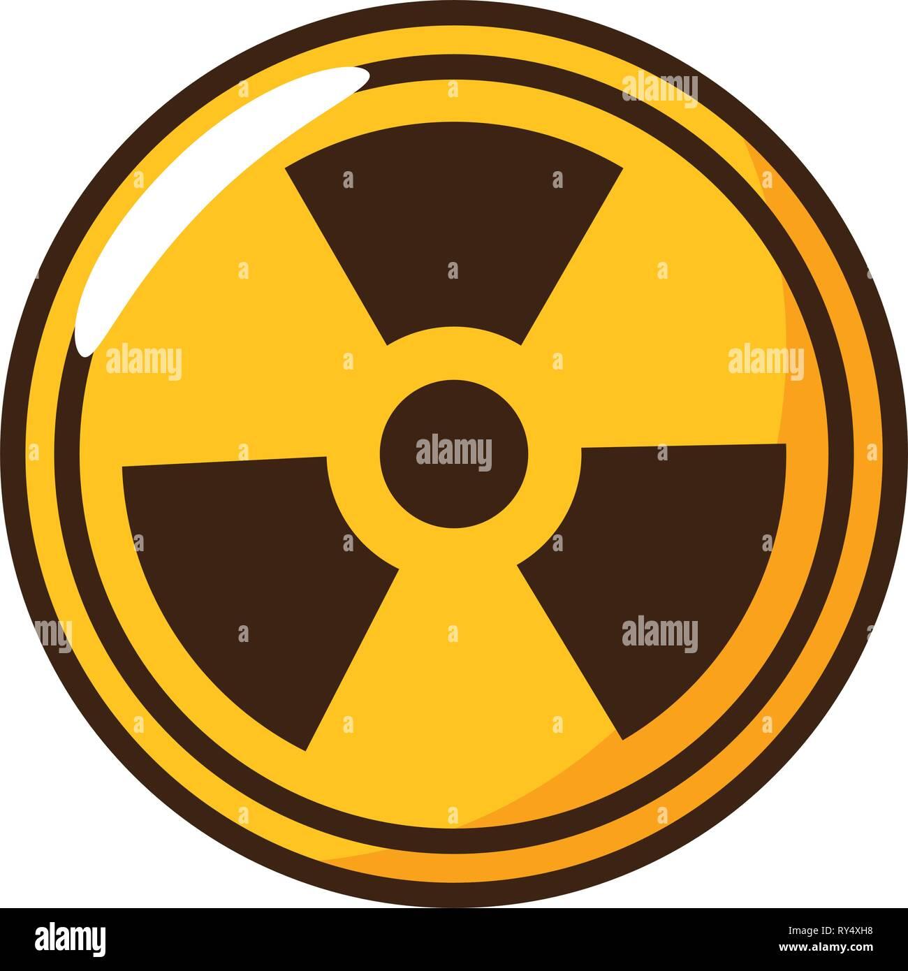 radiation symbol science Stock Vector