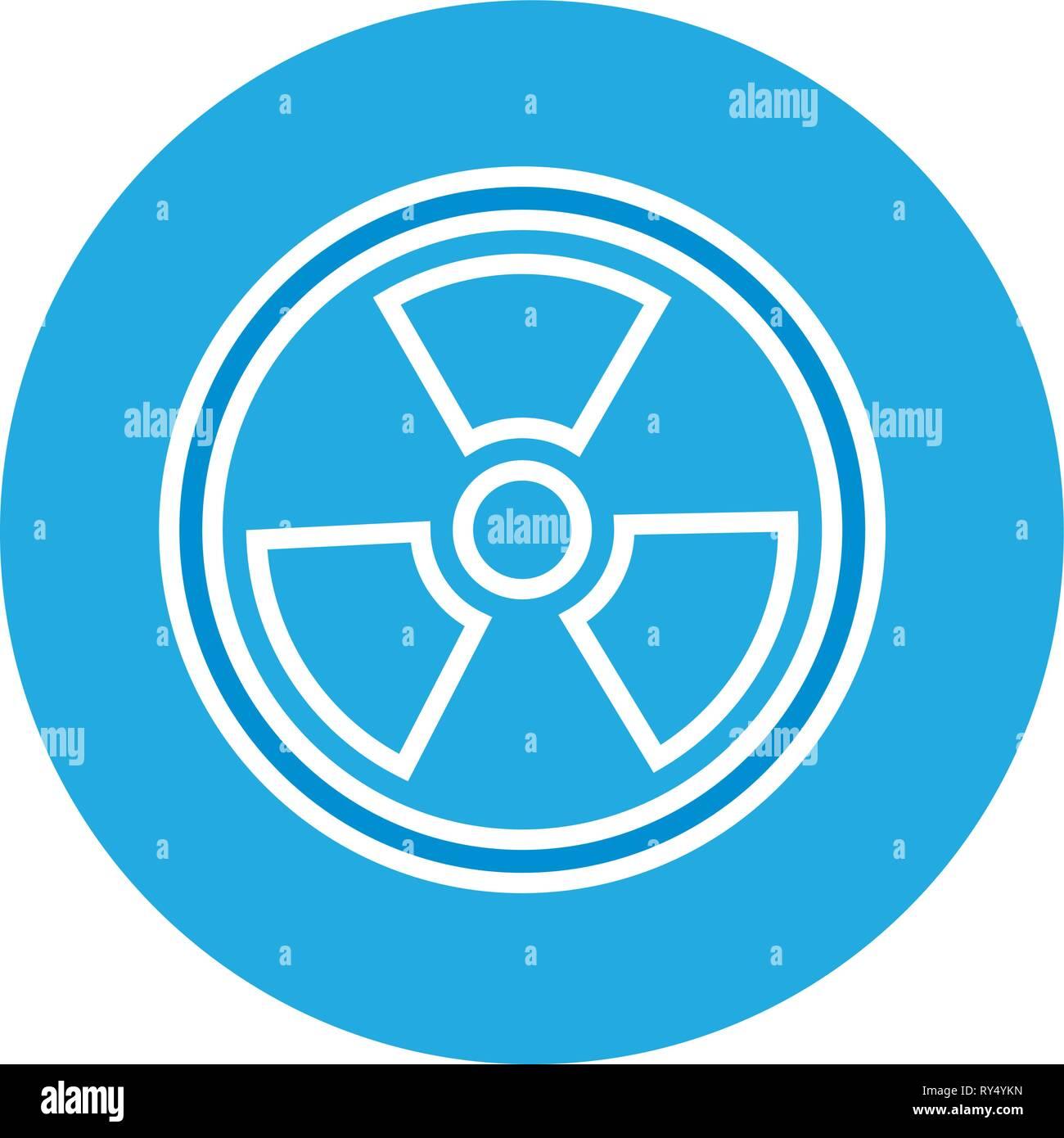 radiation symbol science - Stock Image
