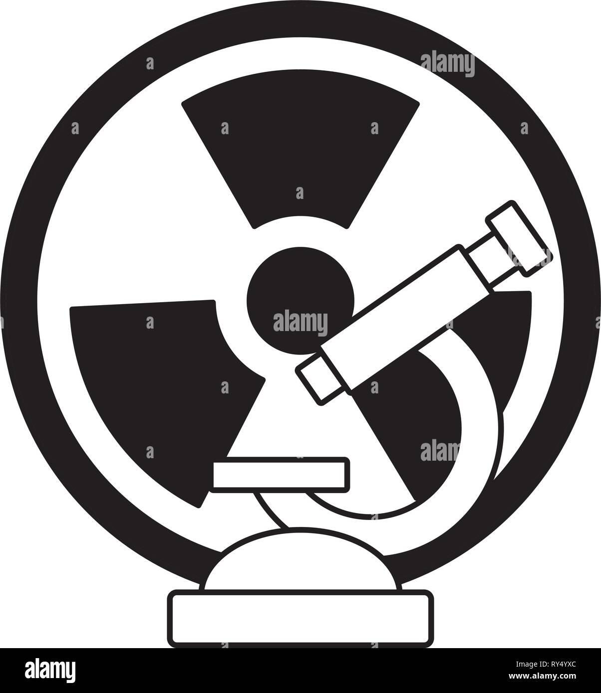 microscope radiation science - Stock Vector