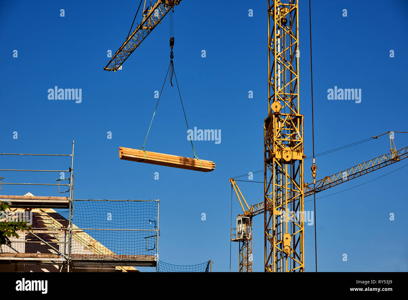 invest in house building - Stock Image