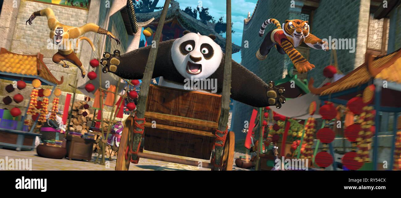 Monkey Panda Tigress Kung Fu Panda 2 2011 Stock Photo Alamy
