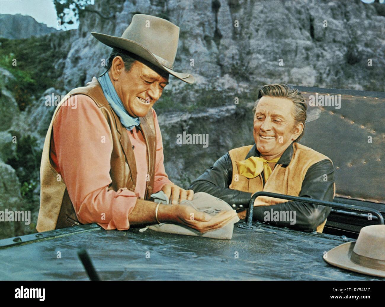 WAYNE,DOUGLAS, THE WAR WAGON, 1967 - Stock Image